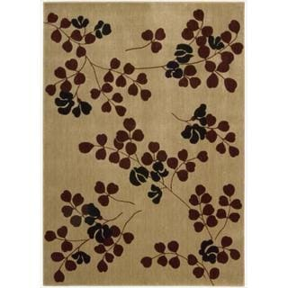 Cambridge Graceful Branches Tan Rug (5'3 x 7'4)