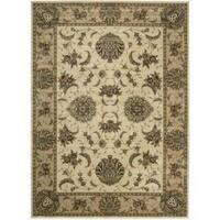 Cambridge Persian Splendor Ivory/ Gold Rug - 7'9 x 10'10