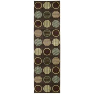 Cambridge Striated Orbs Chocolate Rug (3'6 x 5'6)
