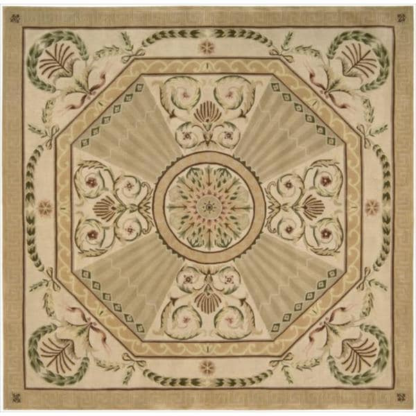 Nourison Hand-tufted Versailles Palace Blush Rug (8' x 8') Square