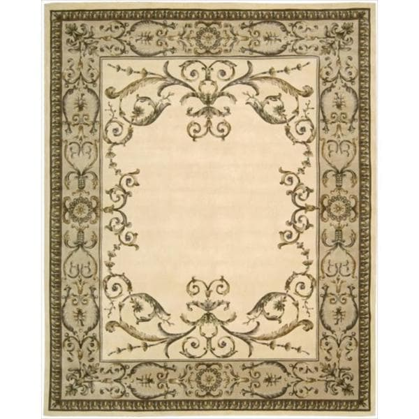 Nourison Hand-Tufted Versailles Palace Ivory Area Rug (9'6 x 13'6)