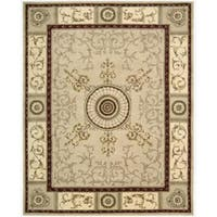 Nourison Hand-tufted Versailles Palace Beige/Red Rug - 8' x 11'