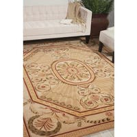 Nourison Hand-tufted Versailles Palace Blush Rug (8' x 11') - 8' x 11'