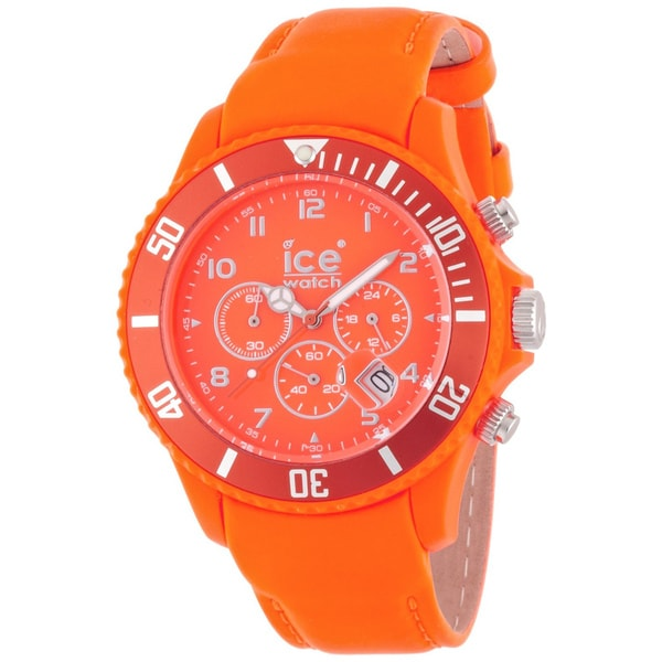 1d0f5dfa67c9d Shop Ice-Watch Men's Orange Chrono Watch - On Sale - Free Shipping Today -  Overstock - 7667416