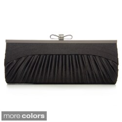 J. Furmani Women's Pleated Satin Clutch (2 options available)