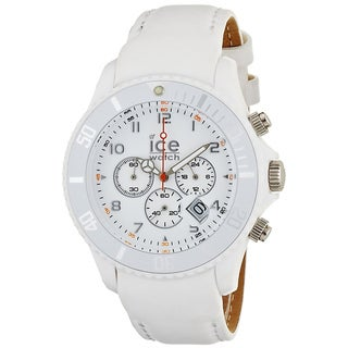 Ice-Watch Men's White Leather Strap Chrono Watch|https://ak1.ostkcdn.com/images/products/7667882/P15080012.jpg?_ostk_perf_=percv&impolicy=medium
