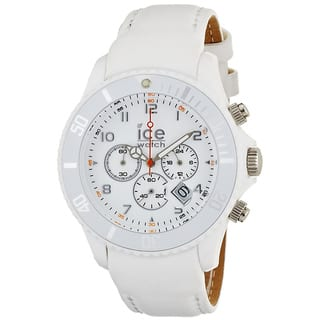 Ice-Watch Men's White Leather Strap Chrono Watch|https://ak1.ostkcdn.com/images/products/7667882/P15080012.jpg?impolicy=medium