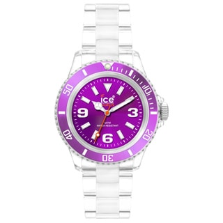 Ice-Watch Women's Classic Collection Purple Dial Clear Plastic Watch