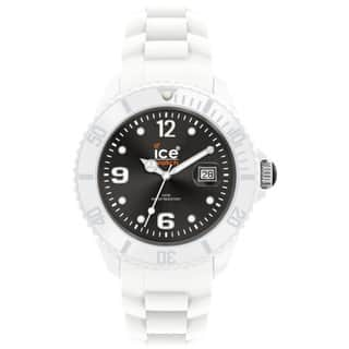 Ice-Watch Men's White Strap Black Dial Watch|https://ak1.ostkcdn.com/images/products/7667888/P15080015.jpg?impolicy=medium