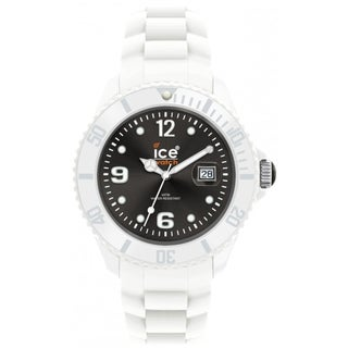 Ice-Watch Men's White Strap Black Dial Watch