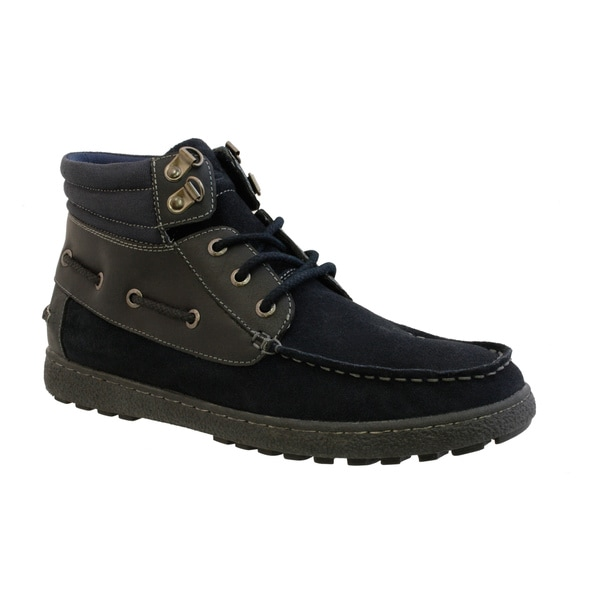 GBX Men's Lace-up Suede and Canvas Boot