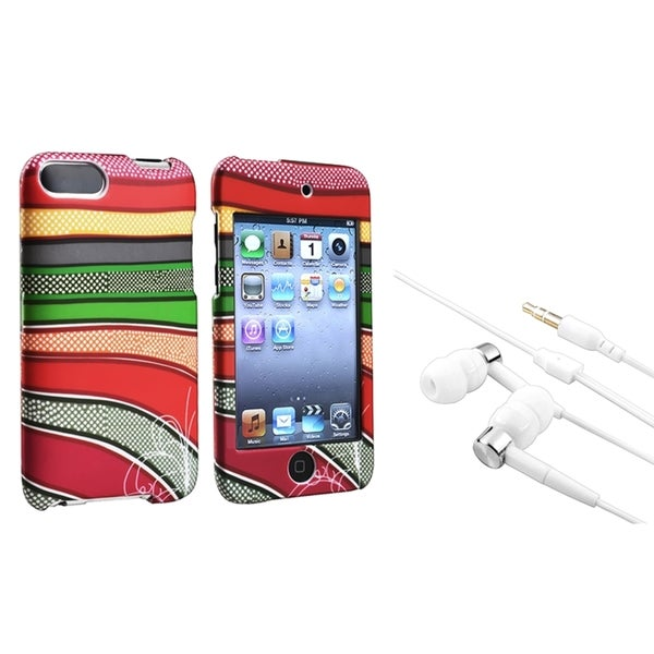BasAcc Stripes Case/ Headset for Apple iPod Touch Generation 2/ 3