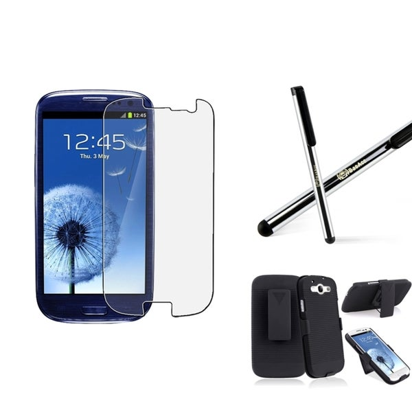 BasAcc Holster/ Protector/ Stylus for Samsung Galaxy S III/ S3