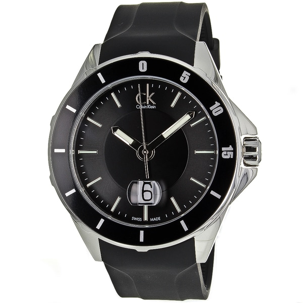 Calvin Klein Men's Silver/Black Play Watch