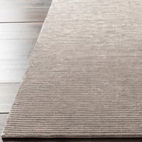 Hand-crafted Brown Solid Casual Luttrell Area Rug - 5' x 8'