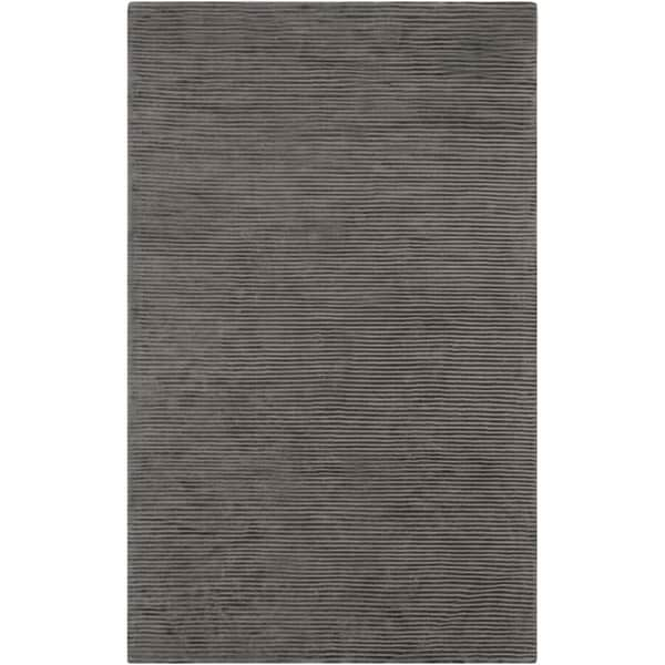 Hand-crafted Brown Solid Casual Luttrell Area Rug (8' x 11') - 8' x 11'