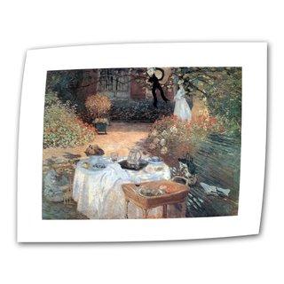 Claude Monet 'Garden Picnic' Flat Canvas