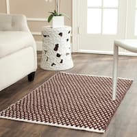 Safavieh Handmade Boston Flatweave Brown Cotton Rug - 2'6 x 4'