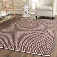 Safavieh Handmade Boston Flatweave Brown Cotton Rug - 5' x 8'