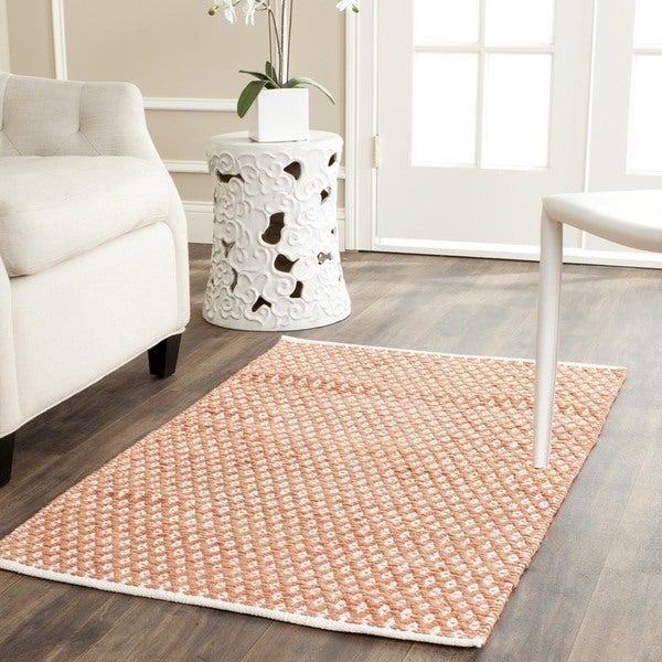 Safavieh Handmade Boston Flatweave Orange Cotton Rug (2'6 x 4')