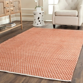 Safavieh Handmade Boston Flatweave Orange Cotton Rug (5'x 8')