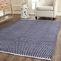 Safavieh Handmade Boston Flatweave Navy Blue Cotton Rug - 3' x 5'