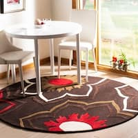 Safavieh Handmade Memories Brown New Zealand Wool Rug (6' Round) - 6'