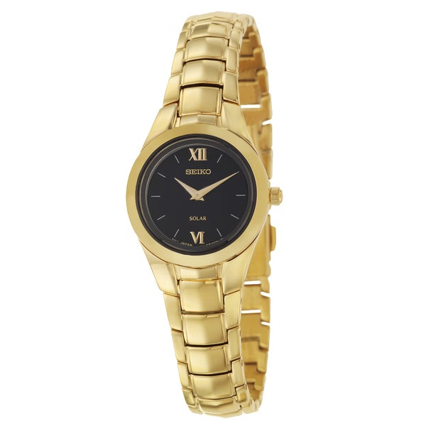 Seiko Women's 'Solar' Yellow Goldplated Stainless Steel Watch