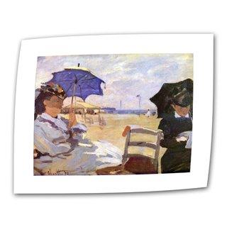Claude Monet 'The Beach' Flat Canvas