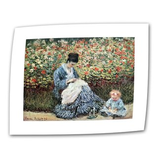Claude Monet 'Mom and Child' Flat Canvas