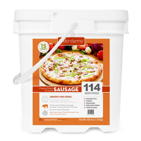 Lindon Farms Freeze Dried Ground Sausage (114 Servings)