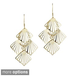 Mondevio Sterling Silver Four Shell Dangle Earrings