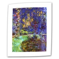 Claude Monet 'Giverny' Flat Canvas - Multi