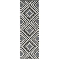 Hand-woven Velva Grey Wool Area Rug - 2'6 x 8'
