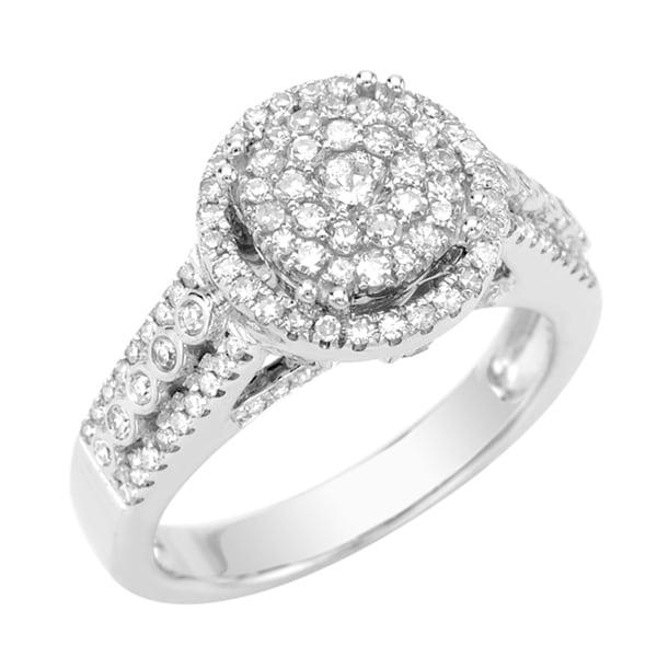 14k White Gold 5/8ct TDW Diamond Engagement Ring (G, SI1)