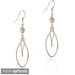 Mondevio Sterling Silver Bead Twist Dangle Earrings