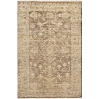 Hand-knotted Tinmouth Traditional Brown Wool Area Rug - 8' x 11'