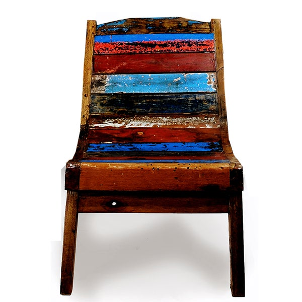 Ecologica Buzios Reclaimed Wood Lounge Chair