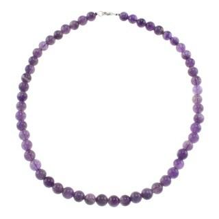 Pearlz Ocean Amethyst Bead Necklace Jewelry for Womens