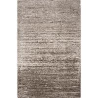 Hand-woven Solid Grey Casual Orwell Area Rug (5' x 8')