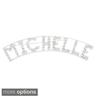 Detti Originals Silver 'M Collection' Crystal Name Pin