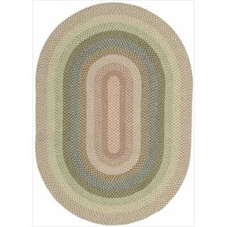 Hand-woven Craftworks Braided Coral Multicolor Oval Rug (2'3 x 7')