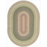 Hand-woven Craftworks Braided Coral Multicolor Oval Rug (2'3 x 7') - 2'3 x 7'