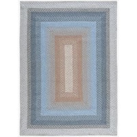 Hand-woven Craftworks Braided Blue Multicolor Rug (7'6 x 9'6) - 7'6 x 9'6