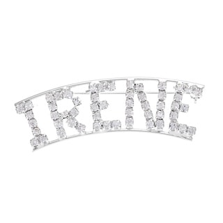 Detti Originals Silver 'IRENE' Crystal Name Pin