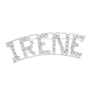 Detti Originals Silver 'IRENE' Crystal Name Pin