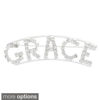 Detti Originals Silver 'GRACE' Crystal Name Pin