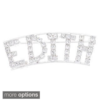 Detti Originals Silver 'EDITH' Crystal Name Pin