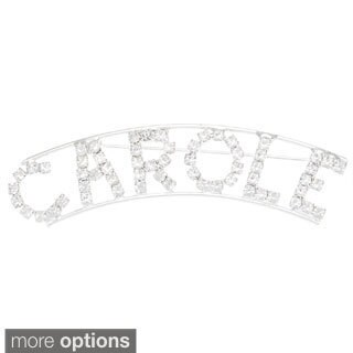 Detti Originals Silver 'CAROLE' Crystal Name Pin