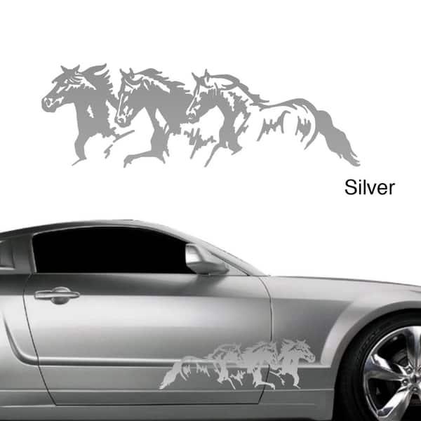 HORSE /& CART VINYL STICKER MULTI COLOURS 2x 220x130mm TROTTER